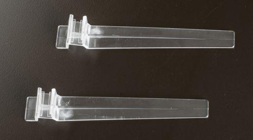Rahmenaufsteller transparent schräg