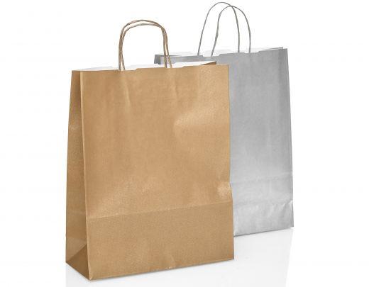 Papiertasche gold silber