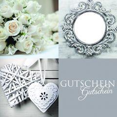 Gutschein Present Quadro Blumen/Herz