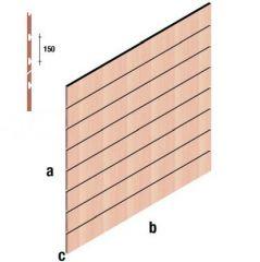 Lamellenwand, Paneel-Wand 120x120cm Arkwall