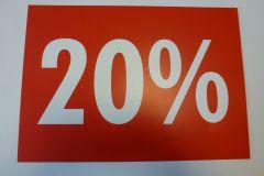 Plakat Karton DIN A4 rot/weiß berduckt