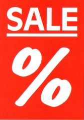 Plakat Karton DIN A4 Sale % beidseitig