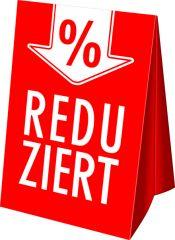 Dachaufsteller Sale Reduziert % rot/weiß